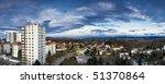 suburban storey building - stock photo