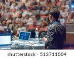 speaker giving a talk on... | Shutterstock . vector #513711004
