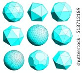 abstract polygonal geometric... | Shutterstock . vector #513712189