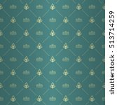 regal seamless pattern with...