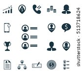set of management icons on... | Shutterstock .eps vector #513718624