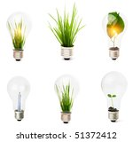 Lightbulb With Plant Growing...