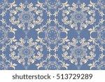 seamless ornament on background.... | Shutterstock .eps vector #513729289