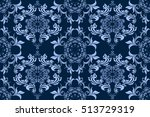 seamless ornament on background.... | Shutterstock .eps vector #513729319