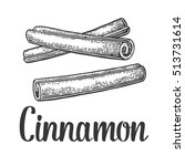 cinnamon stick. isolated on... | Shutterstock .eps vector #513731614
