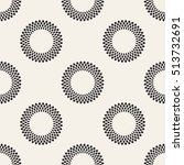 seamless pattern with dotted... | Shutterstock .eps vector #513732691