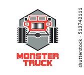 truck logo  off road vehicle... | Shutterstock .eps vector #513742111