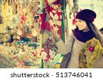 portrait of positive female... | Shutterstock . vector #513746041