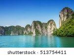 islands in ha long bay. halong...   Shutterstock . vector #513754411