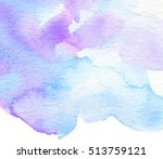 Wave Watercolor Colorful Blue...