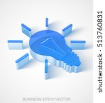 business icon  extruded blue... | Shutterstock .eps vector #513760831