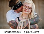 Tattooed Couple In Love...