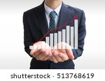 businessman graph | Shutterstock . vector #513768619