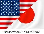 usa and japanese flag