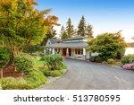 custom built luxury house with... | Shutterstock . vector #513780595