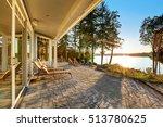 large stone floor patio area of ... | Shutterstock . vector #513780625