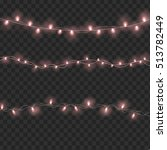 set of overlapping  glowing... | Shutterstock . vector #513782449