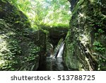 waterfall with forest on... | Shutterstock . vector #513788725