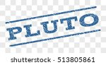 pluto watermark stamp. text tag ... | Shutterstock .eps vector #513805861