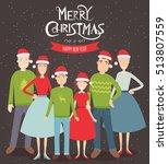 big christmas family... | Shutterstock .eps vector #513807559