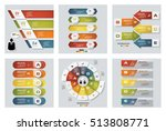 collection of 6 design colorful ... | Shutterstock .eps vector #513808771
