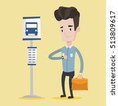 caucasian businessman with... | Shutterstock .eps vector #513809617
