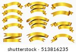 set of gold ribbons golden... | Shutterstock .eps vector #513816235