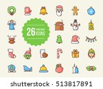 christmas icons | Shutterstock .eps vector #513817891