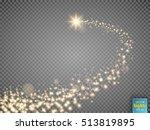gold glittering star dust trail ... | Shutterstock .eps vector #513819895