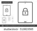 encrypted data vector line icon ...   Shutterstock .eps vector #513823585