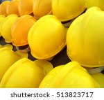 yellow construction helmets  ...   Shutterstock . vector #513823717