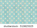 watercolor stars pattern in... | Shutterstock . vector #513825325