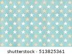 watercolor stars pattern in... | Shutterstock . vector #513825361