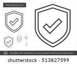 data security vector line icon...