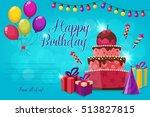 invitation for birthday party... | Shutterstock .eps vector #513827815