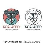creative fun logo with koala...   Shutterstock .eps vector #513836491