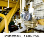 pressure gauge in oil and gas... | Shutterstock . vector #513837931