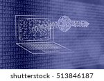 encryption   data security... | Shutterstock . vector #513846187