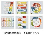 collection of 6 design colorful ... | Shutterstock .eps vector #513847771