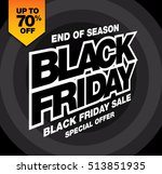 sale poster of black friday | Shutterstock .eps vector #513851935