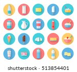 different traditional dairy... | Shutterstock .eps vector #513854401