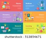 physics chemistry medicine... | Shutterstock .eps vector #513854671