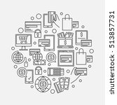 outline online payment... | Shutterstock .eps vector #513857731