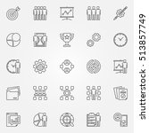 project management icons set.... | Shutterstock .eps vector #513857749
