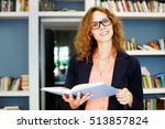 woman standing in office or... | Shutterstock . vector #513857824