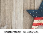 usa patriotic old flag on a...   Shutterstock . vector #513859921