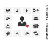 people icon   businesspeople    ... | Shutterstock .eps vector #513864871