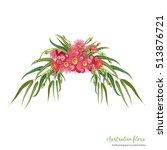 red flowering gum bouquet  | Shutterstock .eps vector #513876721