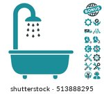 bath shower icon with bonus... | Shutterstock .eps vector #513888295