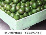 a lot of avocado on a street...   Shutterstock . vector #513891457